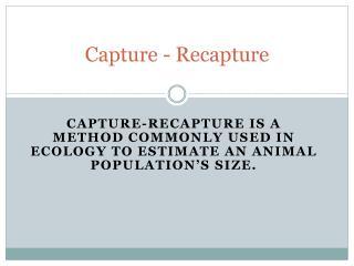 Capture - Recapture