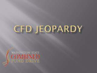 CFD Jeopardy