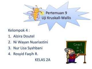 Kelompok 4 : Al z ira Doutel Ni Wayan Nuariastini Nur Lisa Syahbani Rosyid Faqih  R. KELAS 2A