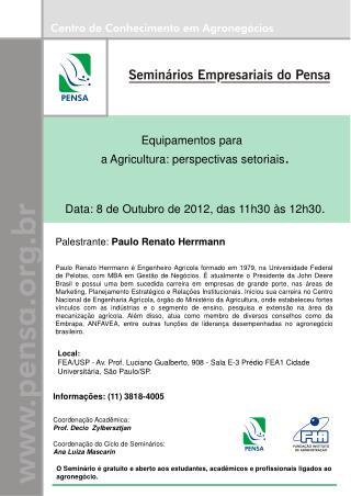 Equipamentos para a Agricultura: perspectivas  setoriais .