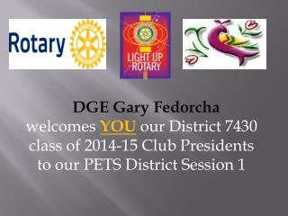 DGE Gary  Fedorcha