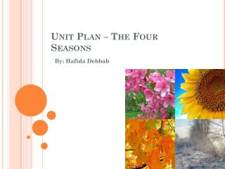 Unit Plan – The Four Seasons