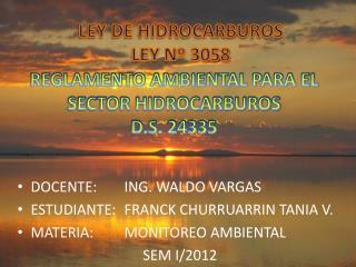 REGLAMENTO AMBIENTAL PARA EL SECTOR HIDROCARBUROS D.S. 24335