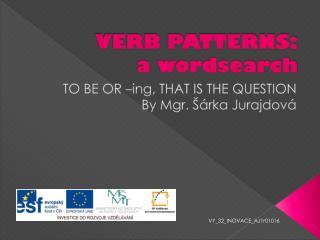 VERB PATTERNS: a wordsearch
