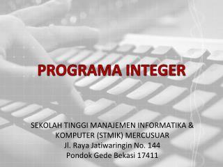 PROGRAMA INTEGER