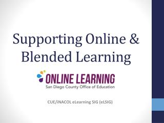 Supporting Online & Blended Learning