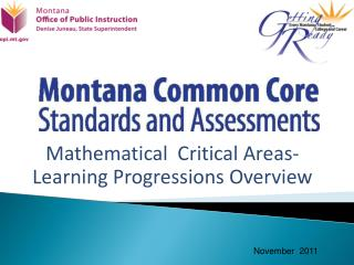 Mathematical   Critical Areas-Learning Progressions Overview