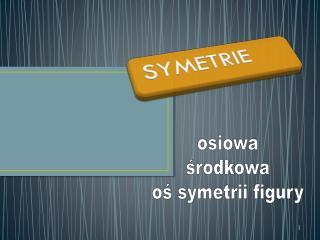 osiowa środkowa oś symetrii figury