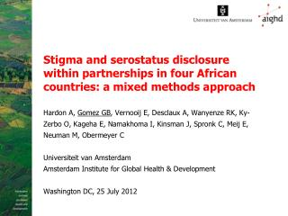 Background: HIV and disclosure