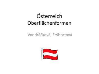 Österreich Oberflächenformen