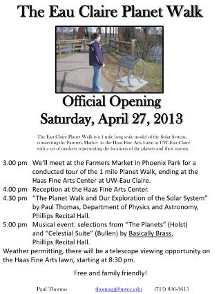 The Eau Claire Planet Walk