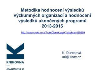 K. Durecová arl @ knav.cz