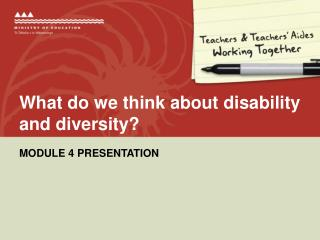 What do we think about disability and diversity?