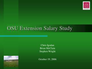 OSU Extension Salary Study