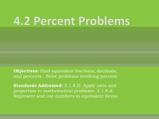 4.2 Percent Problems