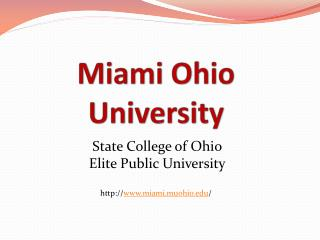 Miami Ohio University