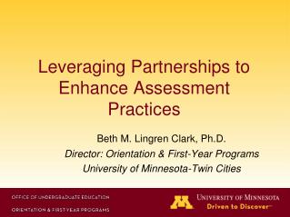 Leveraging Partnerships to Enhance Assessment Practices
