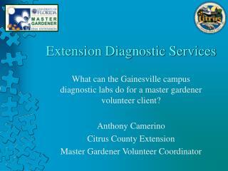 Extension Diagnostic Services