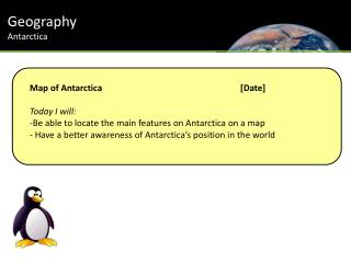 Geography Antarctica