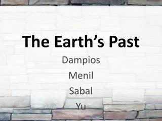 The Earth's  Past