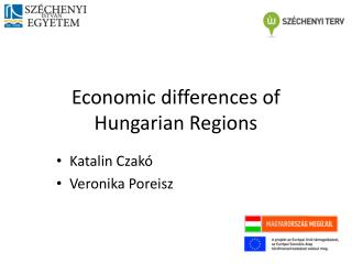 Economic differences  of  Hungarian Regions