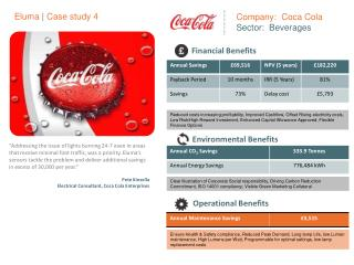 Company:  Coca Cola Sector:  Beverages