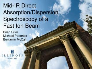 Mid-IR Direct Absorption/Dispersion Spectroscopy of a Fast Ion Beam