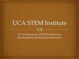 UCA STEM Institute