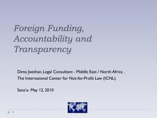 Foreign Funding, Accountability and Transparency