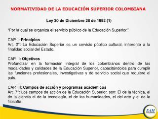 Ley 30 de Diciembre 28 de  1992 (1)