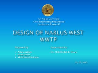 Design Of Nablus-West WWTP