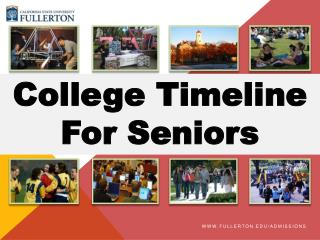 College Timeline For Seniors