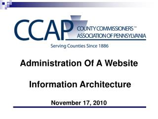 Administration Of A Website  Information Architecture