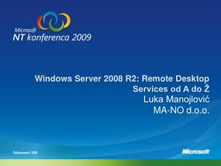 Windows Server 2008 R2: Remote Desktop Services od A do Ž