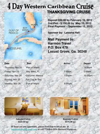 4 Day Western Caribbean Cruise