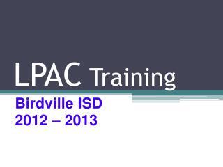 LPAC  Training