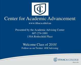 Center for Academic Advancement