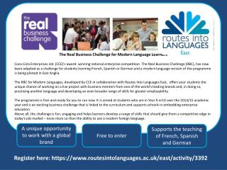 The Real Business Challenge for Modern Language Learners