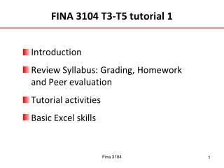 FINA 3104 T3-T5 tutorial 1