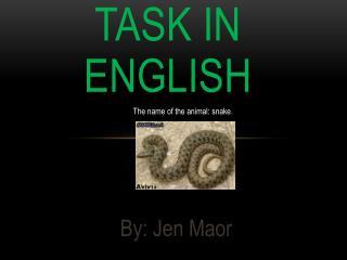 Task in  English