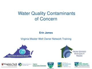 Erin James  Virginia Master Well Owner Network Training