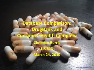 Database Comparison: DrugBank  and  Consumer Health Complete