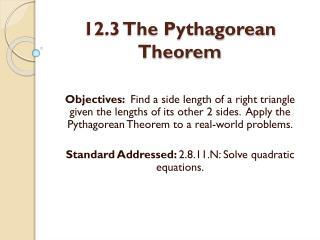 12.3 The Pythagorean Theorem