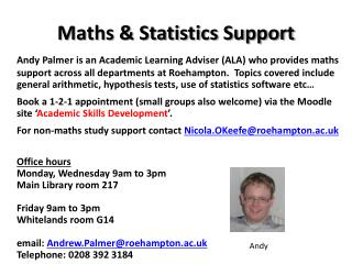 Maths & Statistics Support