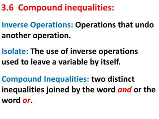 3.6  Compound inequalities: