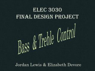 ELEC 3030 Final design project