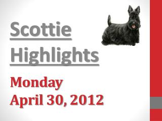 Monday April  30,  2012