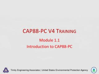 CAP88-PC V4 Training