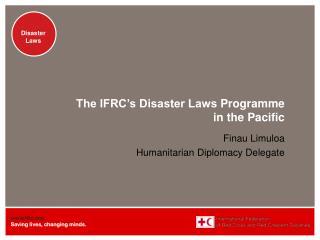 Finau Limuloa Humanitarian Diplomacy Delegate