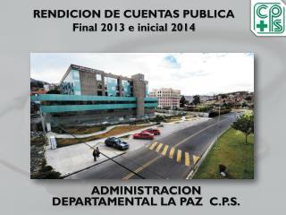 RENDICION DE CUENTAS PUBLICA Final 2013 e inicial 2014